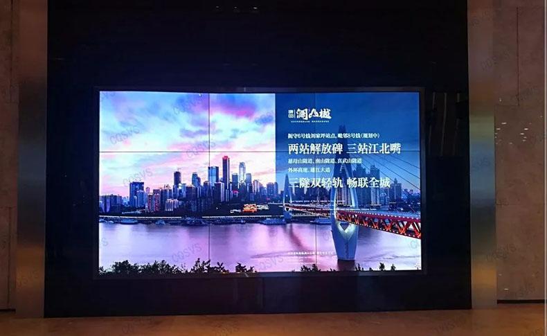 重庆康田凯旋国际展厅液晶拼接屏案例