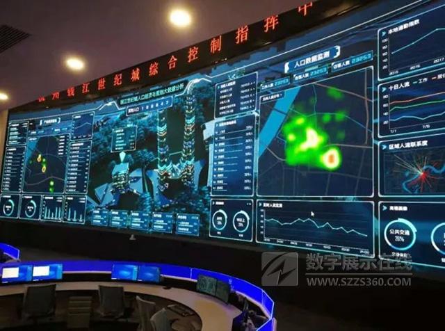 洲明显示亮相钱江世纪城新型智慧城市指挥中心
