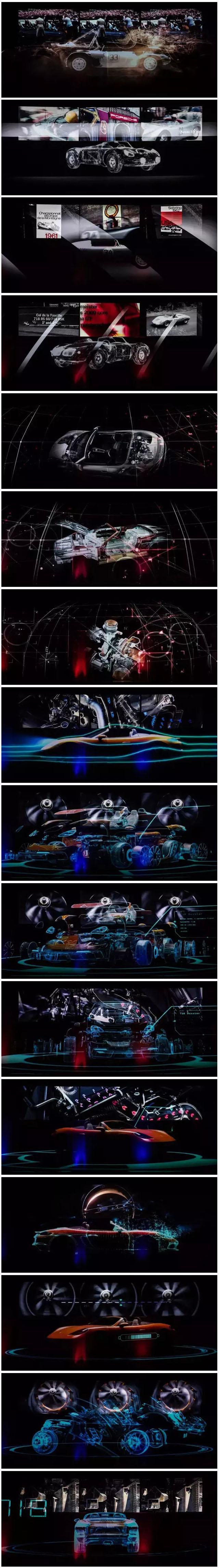 震撼的保时捷718 Boxster全息投影发布会