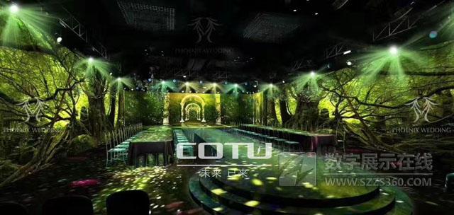 全息宴会厅案例:COTU科图工程投影机助力打造湖南湘乡全息宴会厅