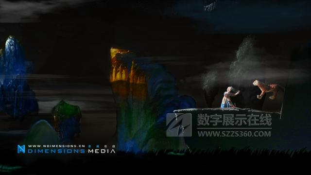 3D木偶剧《嫦娥奔月》纱幕描绘舞台视觉