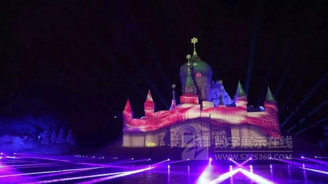 松下激光工程投影机助力2018太阳岛冰雪博览会《雪舞间》