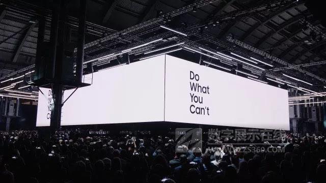 三星S9系列手机首映活动,四块屏幕玩转全场视觉!