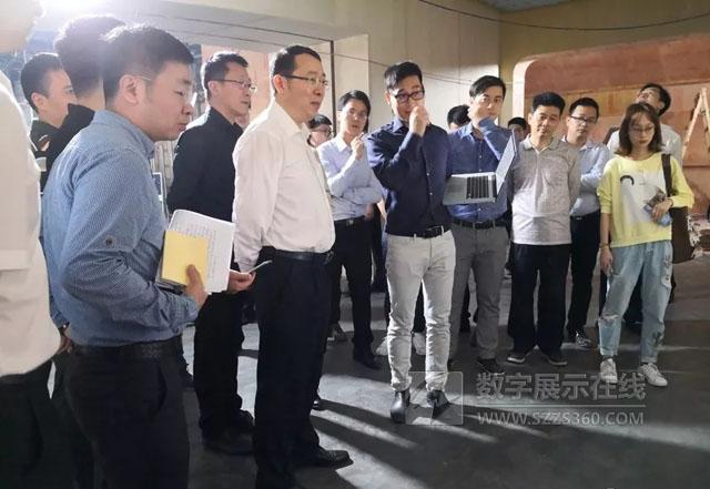 南山区委书记王强调研深圳湾科技创新展示中心项目