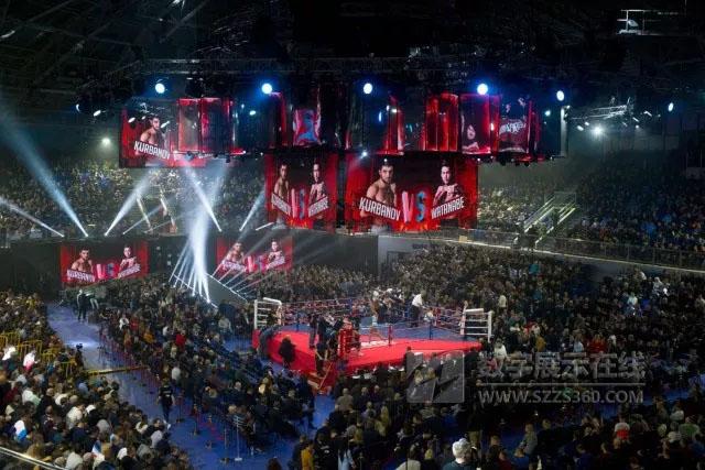 俄罗斯叶卡捷琳堡职业拳击之夜舞台设计