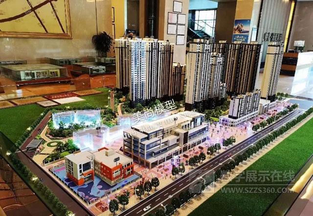 美尚数字科技打造美域熙湖地产建筑模型