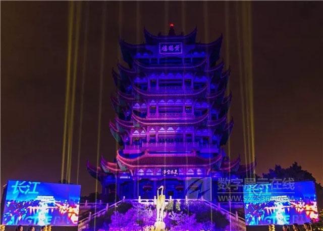 TMTT团队鼎力打造黄鹤楼酷炫裸眼3D投影秀