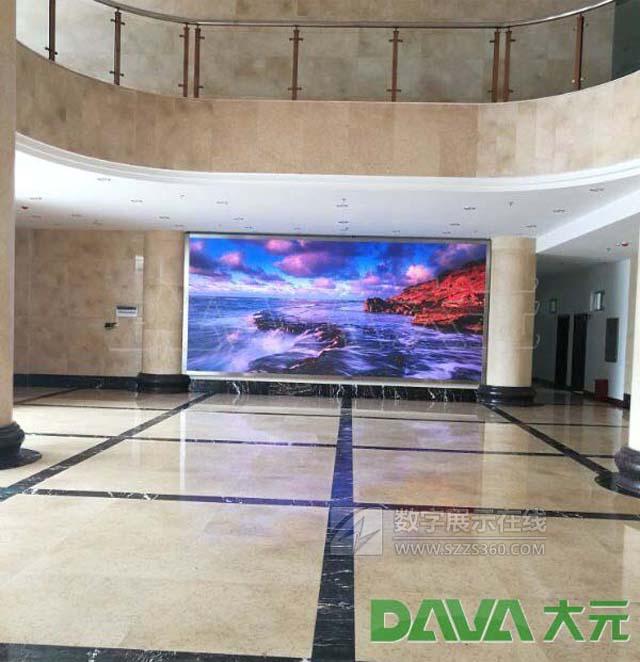 大元打造海南海口经济学院创业大厦P4室内LED显示屏