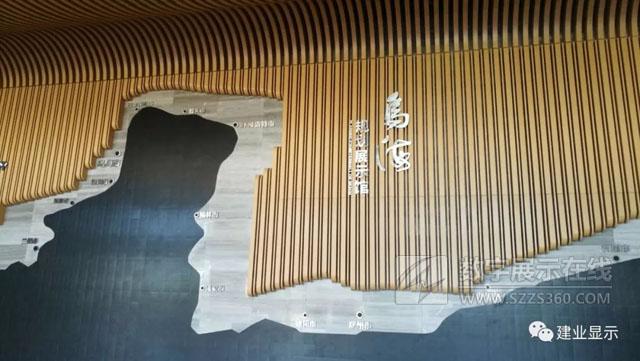 18台丽讯RU3562M激光投影机打造内蒙古乌海城市规划展示馆3DGIS数字沙盘