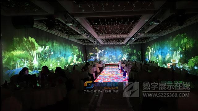 数字餐厅案例:河南郑州南三环特味村大酒店全景宴会厅