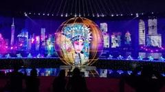 蓝硕科技LED球助力青岛上合峰会艺术表演