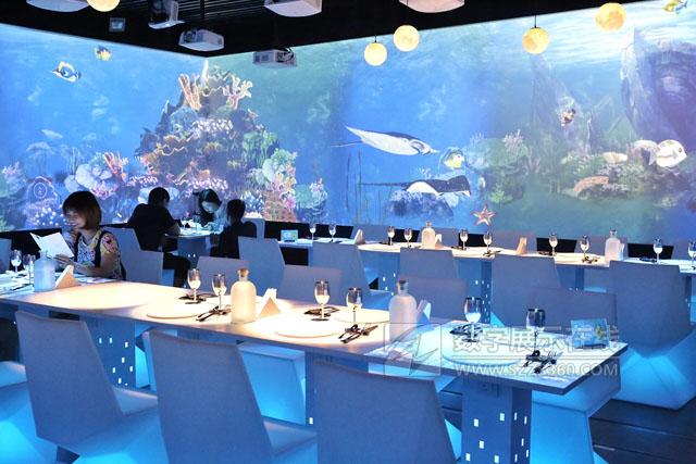 隐藏在商场里的3D投影海底世界主题餐厅