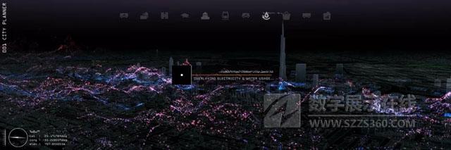 """企业展厅设计案例:""""沉浸式空间""""将数据可视化,直观了解迪拜城市未来规划!"""