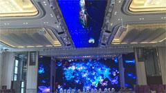 大元智能用创意LED显示屏打造5D宴会厅