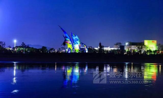 佰影数字科技打造2018年青岛峰会灯光秀