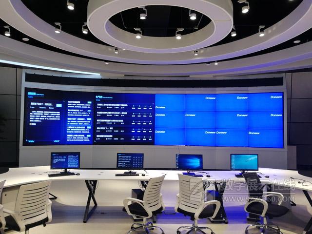 东方中原液晶拼接屏演绎大数据展示之道——项城广播电视台融媒体中心
