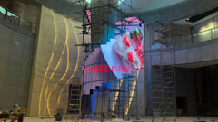 大元智能奥运火炬创意艺术LED屏成功点亮