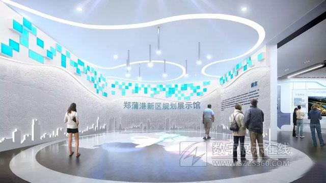 水晶石打造的郑蒲港新区规划展示馆正式开馆