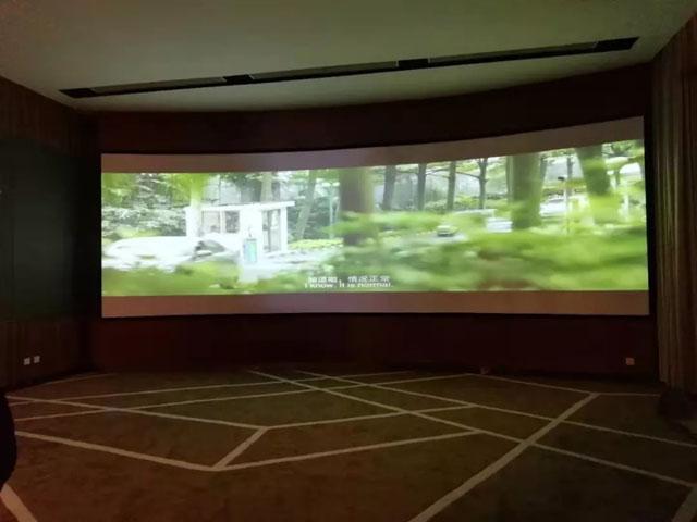 太原某地产弧幕展厅 地产展厅标配演播室