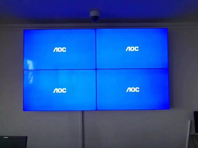 虚拟仿真案例:金华成泰农商银行液晶拼接屏解决方案