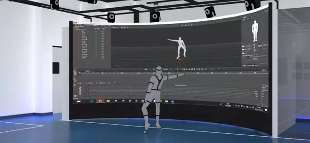 虚拟仿真案例:南开大学虚拟仿真实验教学中心3D弧幕大屏人机智能交互系统
