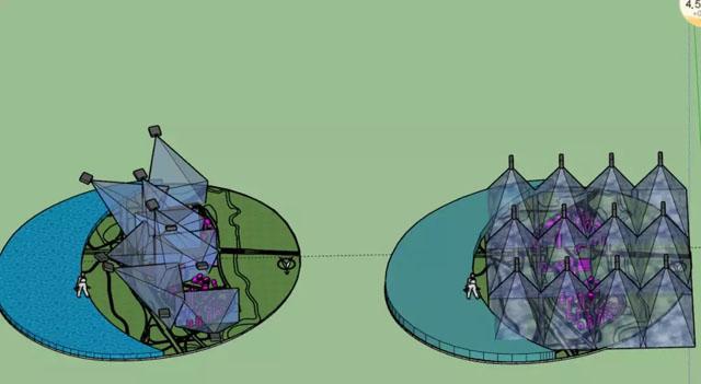 投影下的科技之光—重庆数据谷光雕沙盘