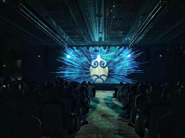 全息宴会厅案例:萧山百桌4D全息会议厅尽在翡江宴婚宴中心