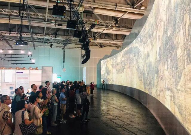 新媒体艺术案例:《清明上河图3.0》数字艺术广州展