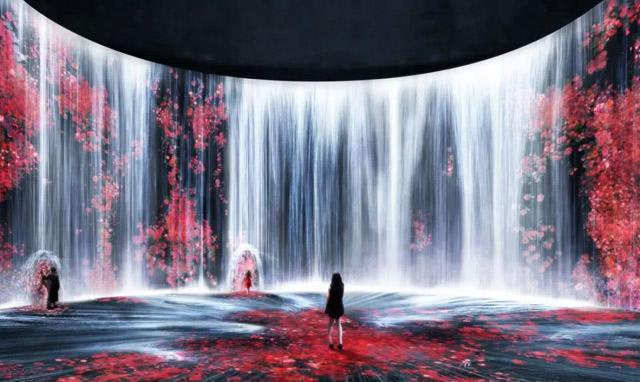 teamLab上海首展|油罐中的水粒子世界