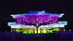 东汉上元夜建筑投影