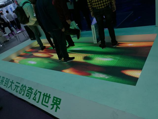 LED互动感应地砖屏与传统LED屏的区别