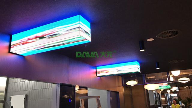 大元智能打造澳洲P5室内柱子LED指示屏