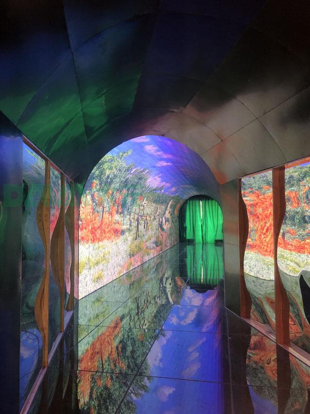 深圳大元led隧道显示屏+led互动地砖显示屏