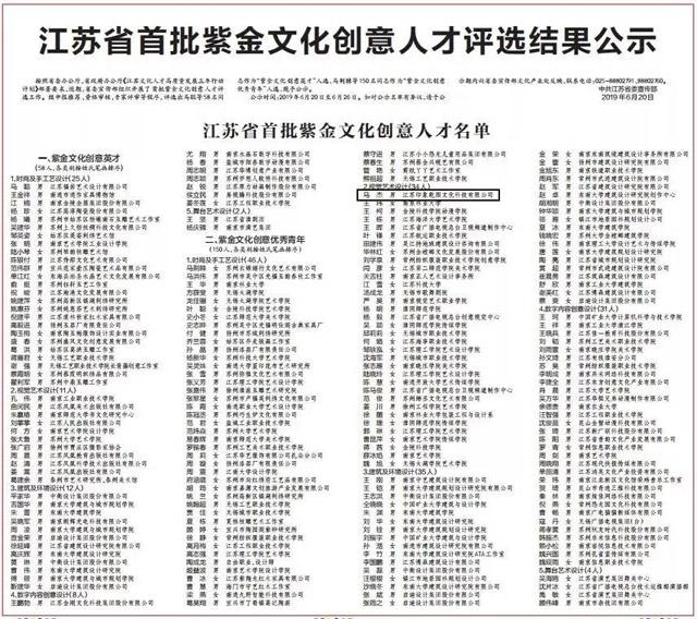印象乾图副总经理马杰入选江苏省首批紫金文化创意人才