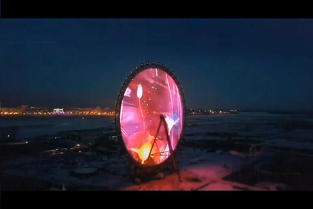 """""""黑河之眼""""照亮中俄边境-40℃的冬夜"""