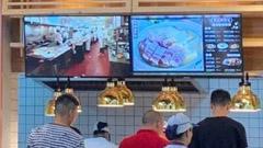 萧山服务区餐饮数字标牌