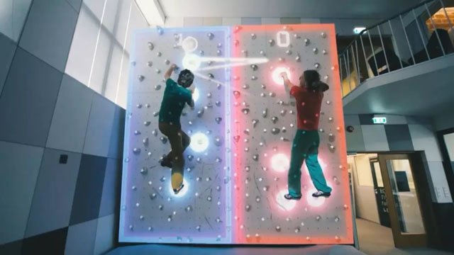 AR增强现实案例:Augmented Climbing Wall|AR室内攀岩
