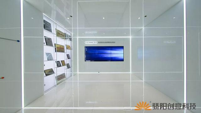 企业展厅设计案例:400平米打造出1000平米既视感的拓邦企业智能展厅