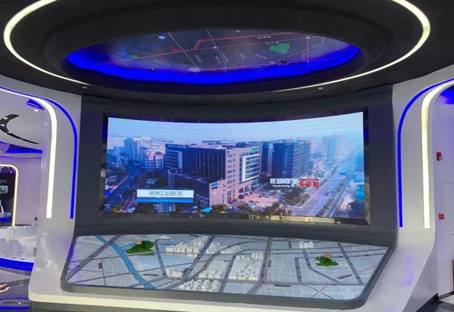 企业展厅设计案例:张槎特色小镇多媒体智能化展厅案例