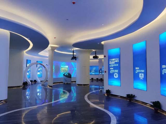 企业展厅设计案例:走进长沙总部基地新智慧园区体验未来智慧科技