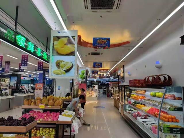 虚拟仿真案例:Goodview广告机入驻无锡令煊生鲜超市