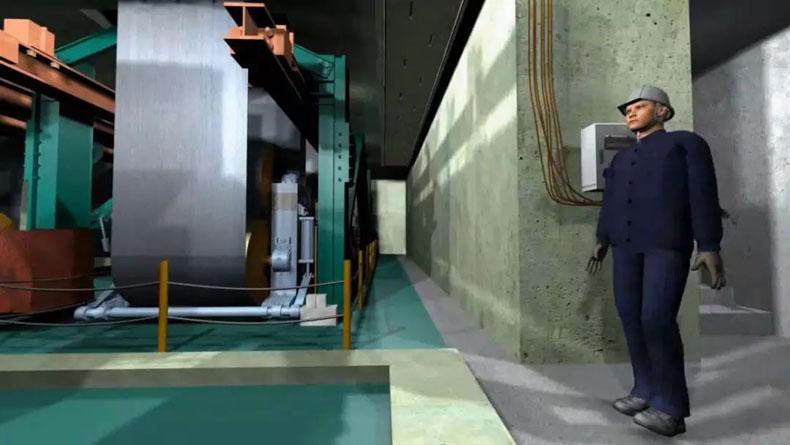 """安全体验馆案例:鞍钢实业集团""""冷轧厂生产安全VR预警演练模拟系统""""项目"""