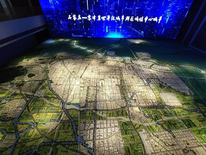 规划馆设计案例:石家庄城市馆开馆试运行市民可预约参观