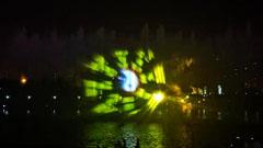 汤阴元宝湖喷泉秀