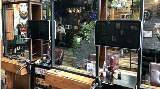 邢台市连锁洗发店美容院引入液晶网络广告机