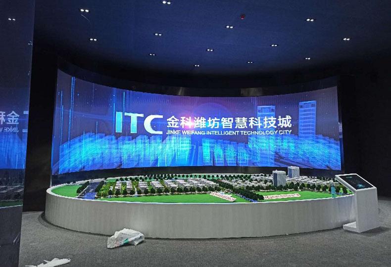 虚拟仿真案例:大元智能打造山东某科技城cob显示屏项目