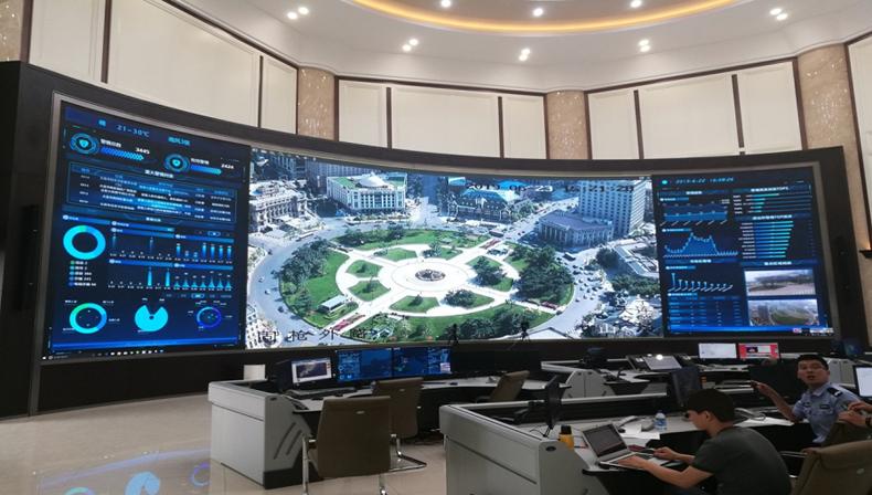 虚拟仿真案例:大元智能COB显示屏服务某公安局应急指挥中心