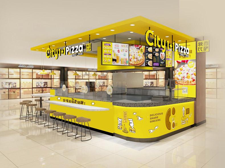 虚拟仿真案例:飞速扩张的城市披萨是如何使用信发系统管理门店电子标牌的?