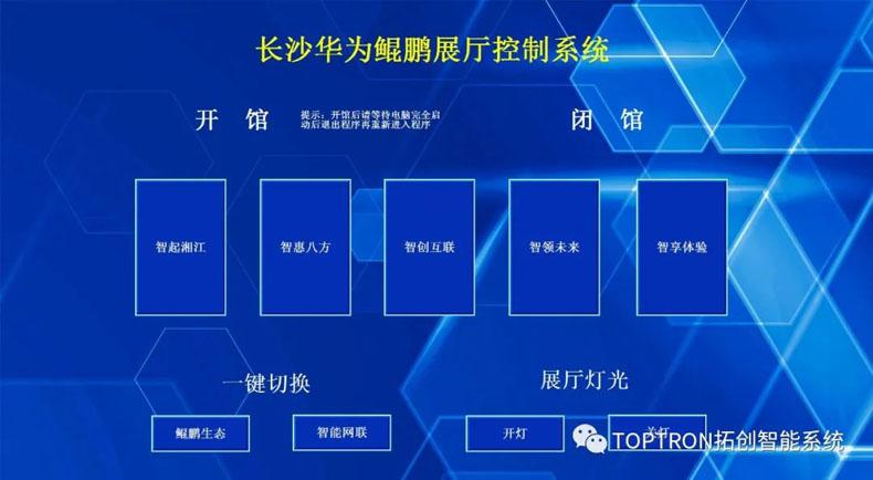 虚拟仿真案例:长沙鲲鹏展厅IPAD智能双向控制系统整体解决方案
