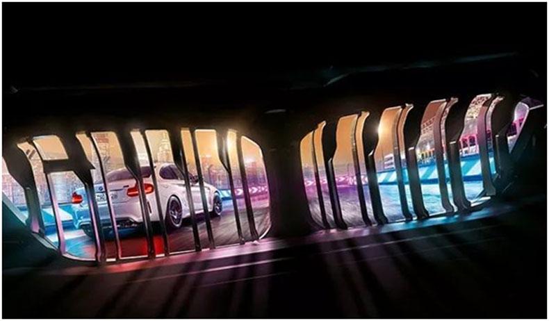 豪华,仅是标配 ; 透明,才是魅力 ——洲明为宝马打造超级4S概念店